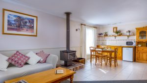 Enjoy our spacious living space in our one bedroom spa cottage